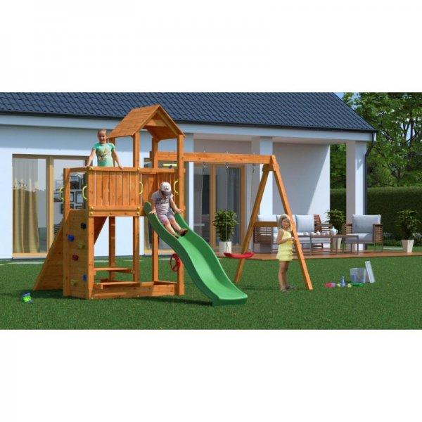Детска площадка с пързалка, рампа и 2 люлки Floppi